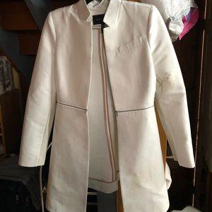 Bcbg white long blazer
